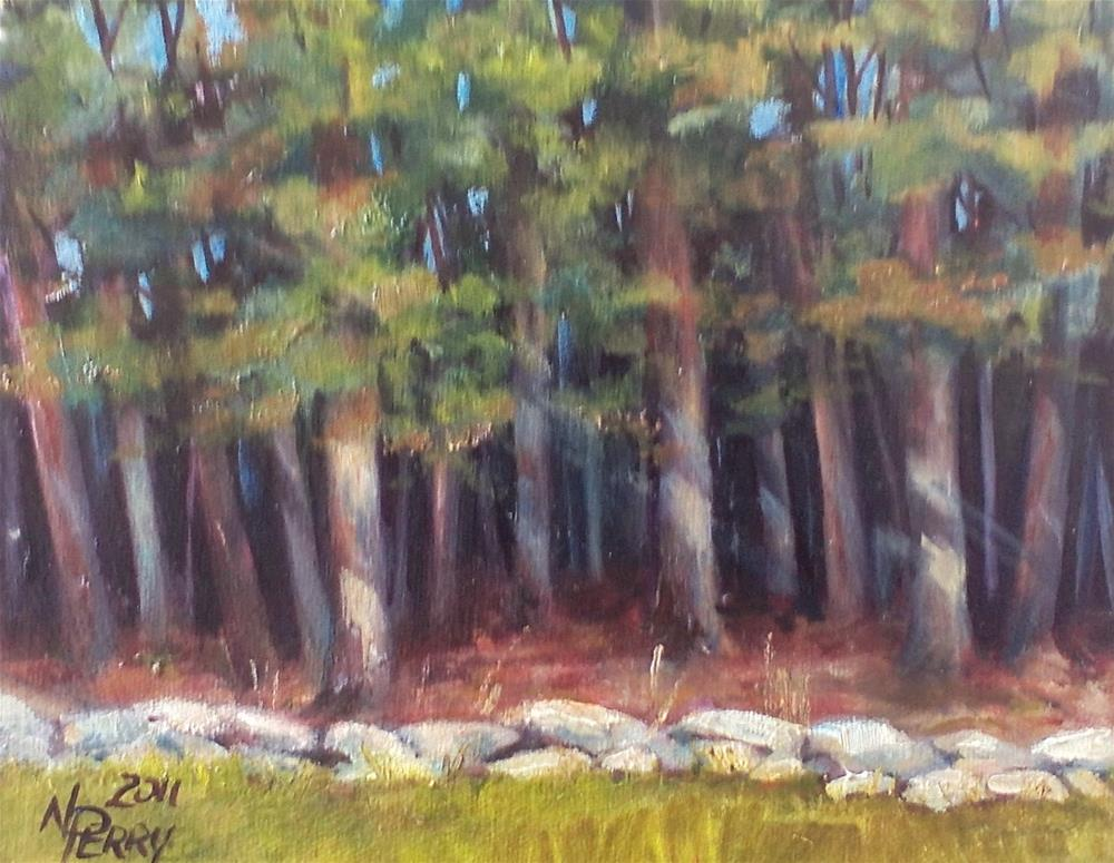 """View from the Back Porch"" original fine art by Nan Perry"