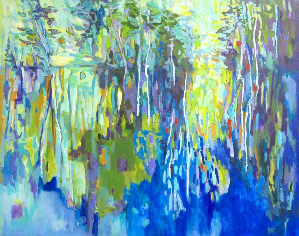 """Shoreline Blues"" original fine art by Patricia MacDonald"