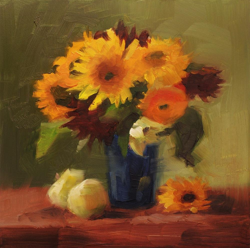 """No. 499 Sunflower Bouquet"" original fine art by Susan McManamen"