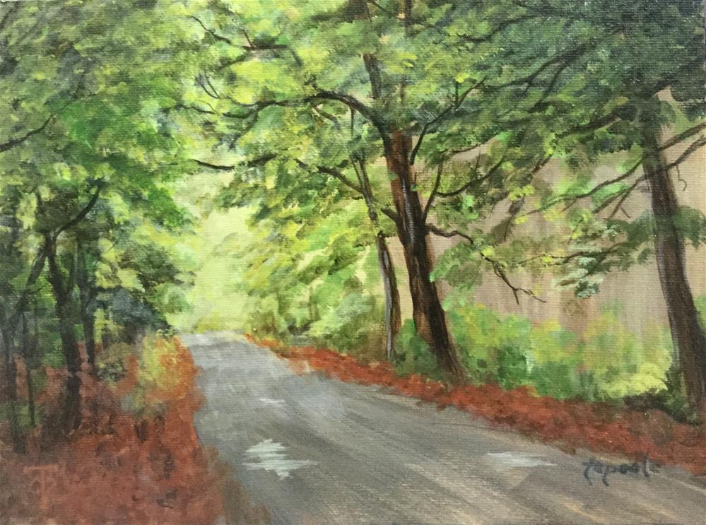 """Lonesome Road"" original fine art by T.C. Poole"
