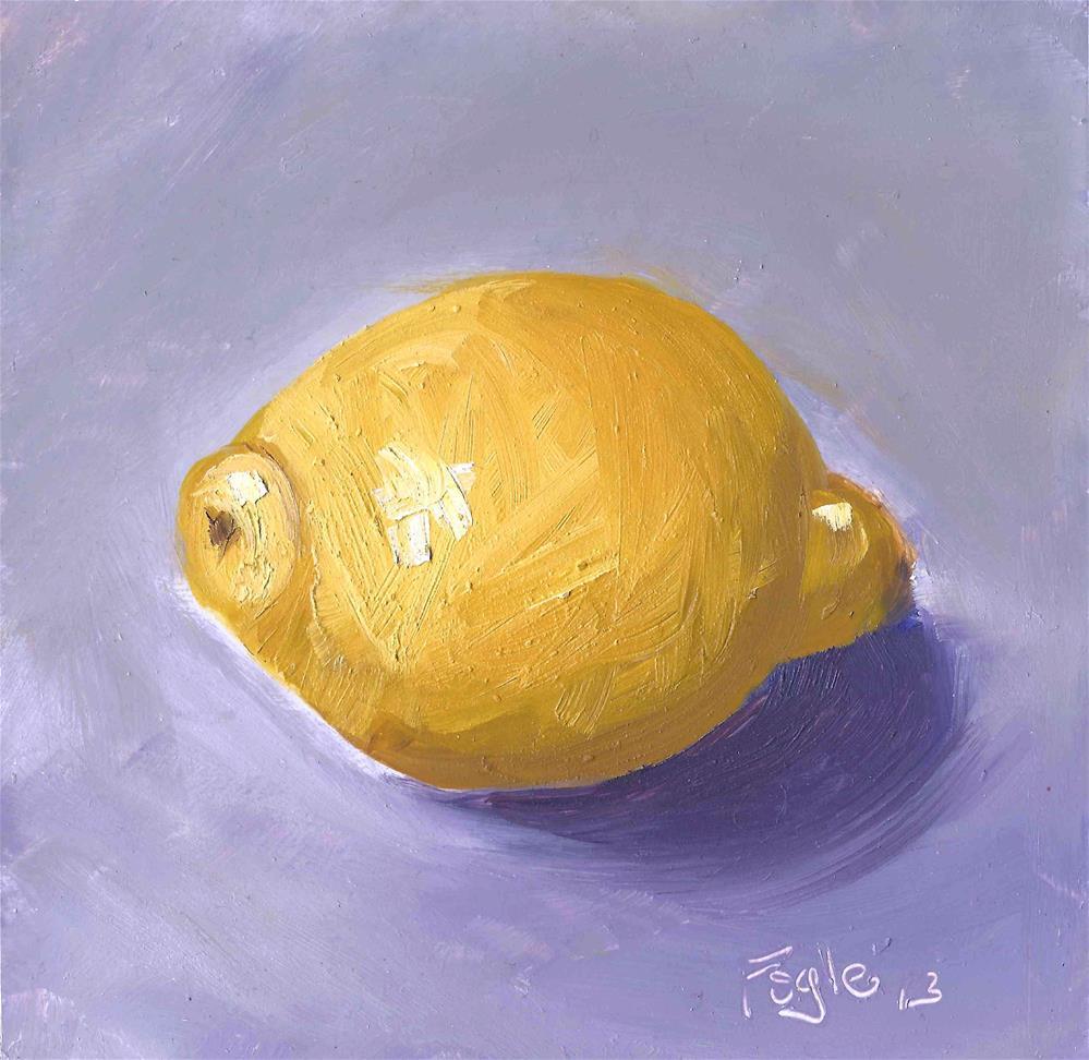 """Lemony"" original fine art by Rachel Fogle"