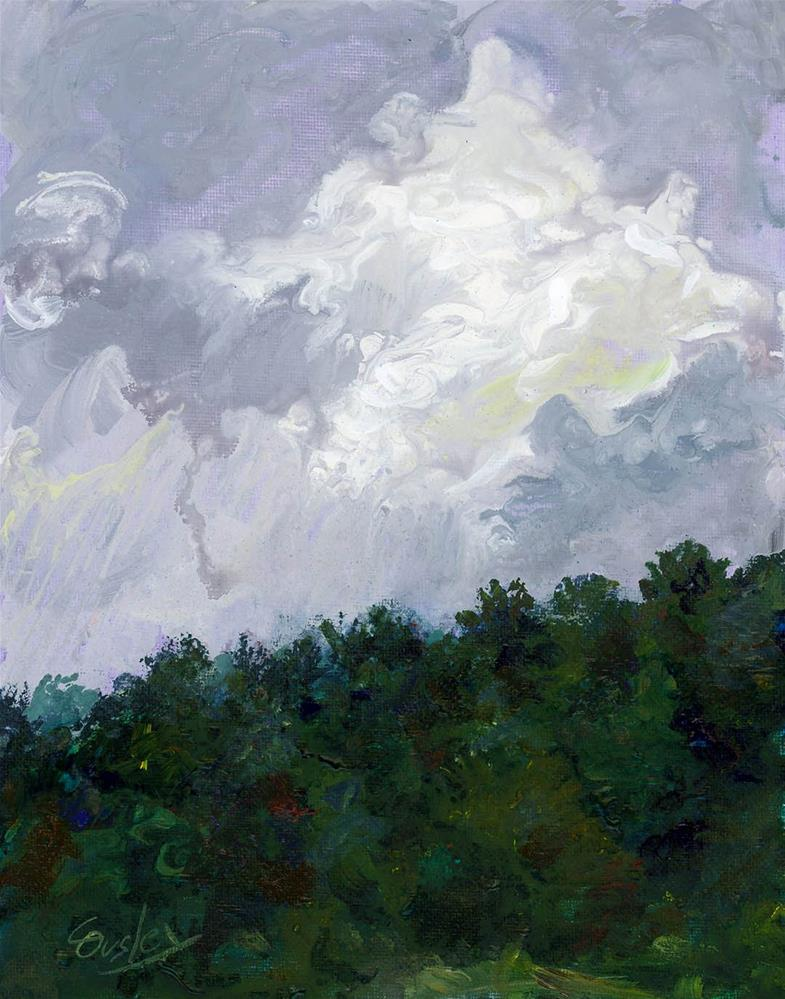 """""""May Showers"""" original fine art by Chris Ousley"""