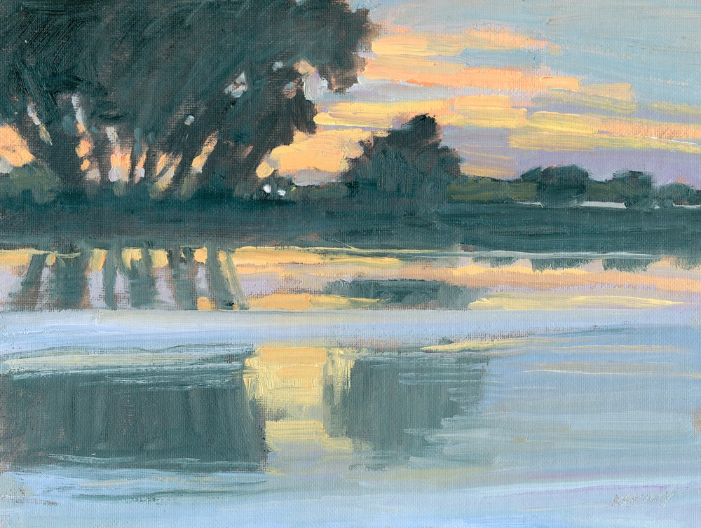 """Morning Lights"" original fine art by Kath Reilly"