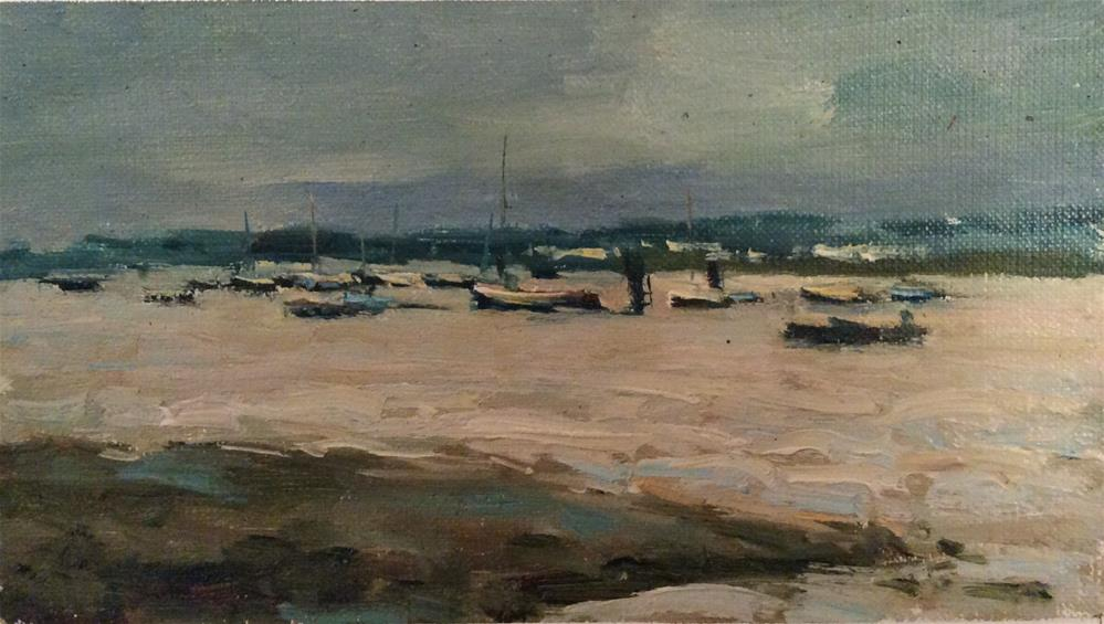 """Grey Day West Mersea"" original fine art by John Shave"