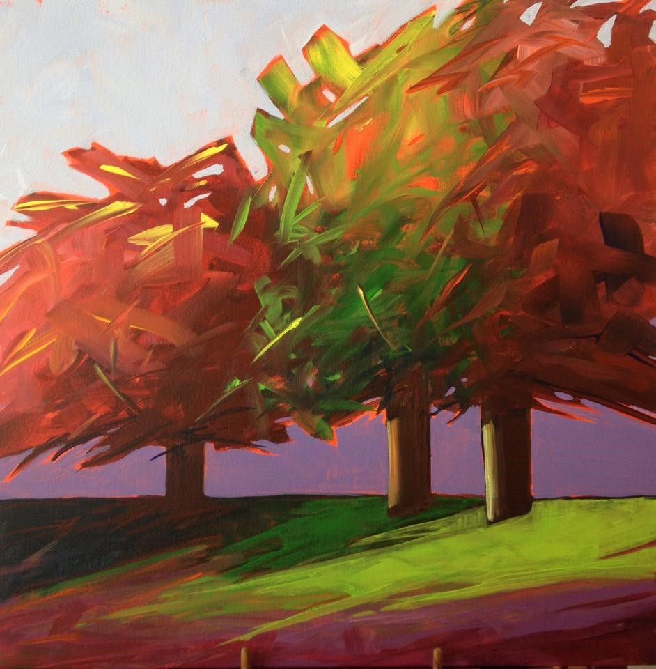 """The Colors of Fall"" original fine art by Mónica Linares"