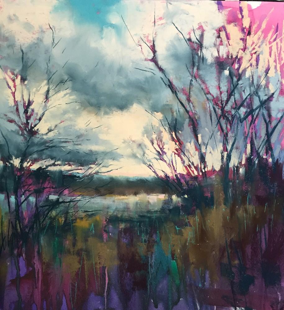 """Silver Evening"" original fine art by Marla Baggetta"