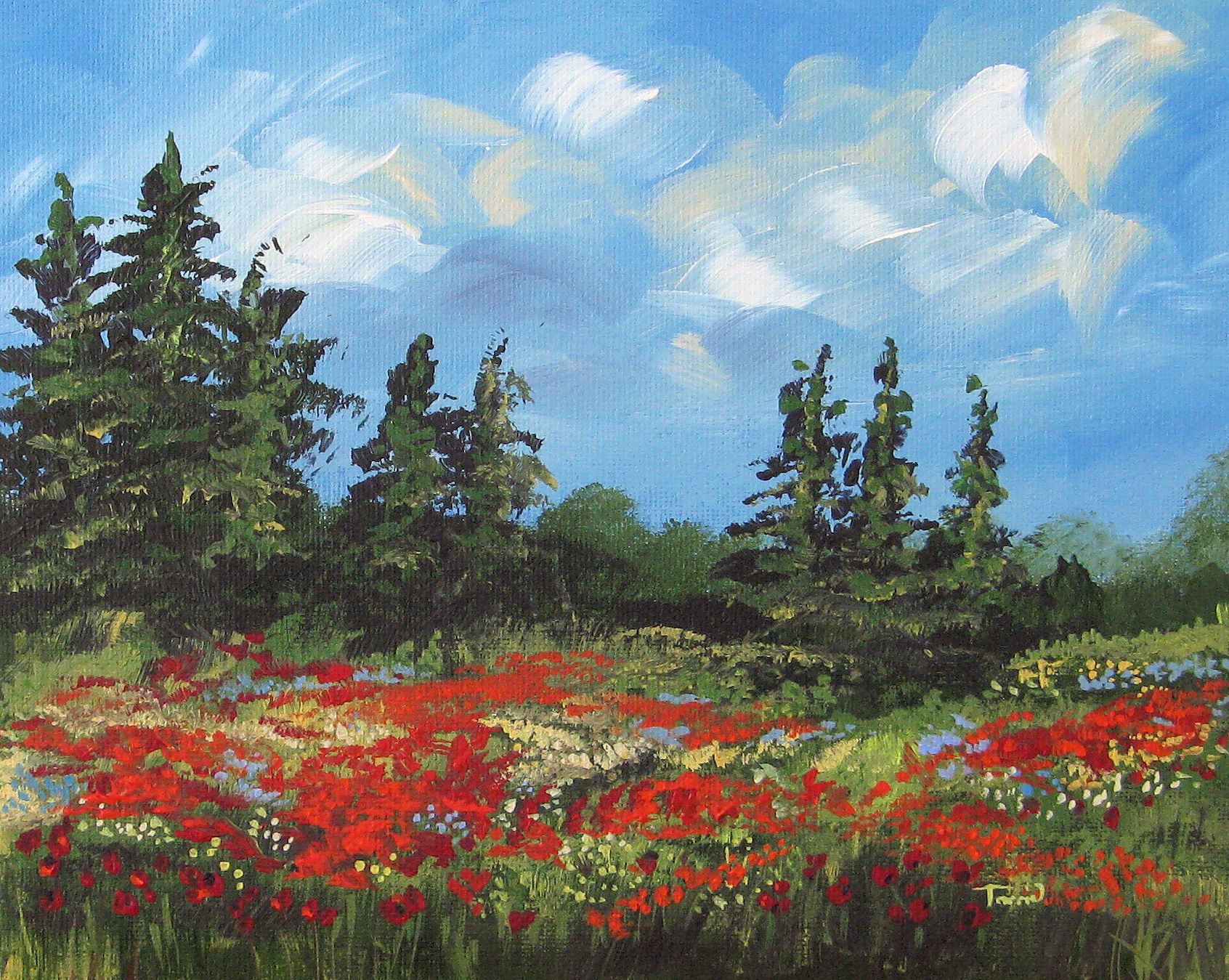 """Summer Poppies II"" original fine art by Torrie Smiley"