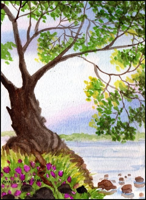 """Tree with Attitude"" original fine art by Patricia Ann Rizzo"