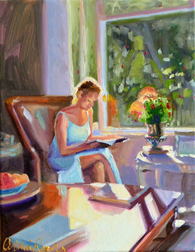 """SANDRA"" original fine art by Cecilia Rosslee"