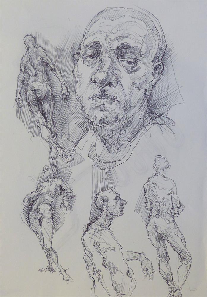"""sketchbook57"" original fine art by Katya Minkina"