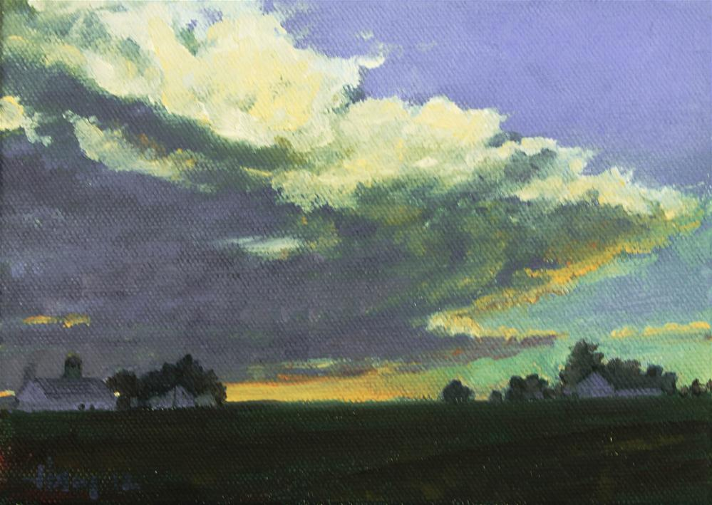 """The Storm Cometh"" original fine art by Ski Holm"