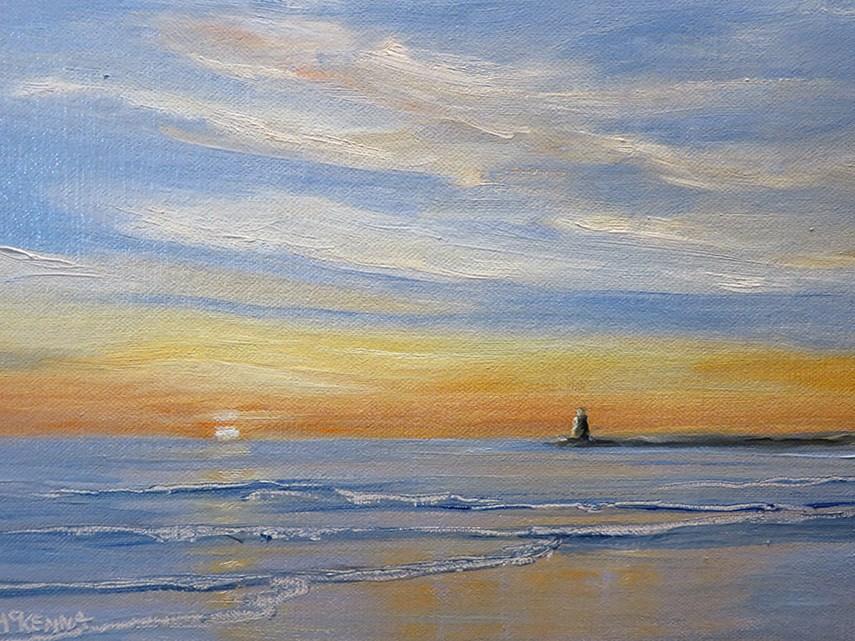 """Coastal Sunrise"" original fine art by Judith McKenna"