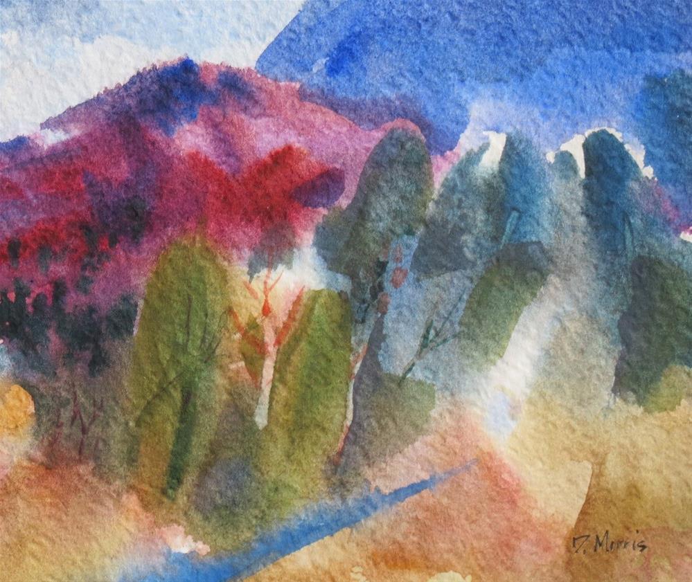 """In the Shadow of Blue Mountain"" original fine art by Dann Morris"