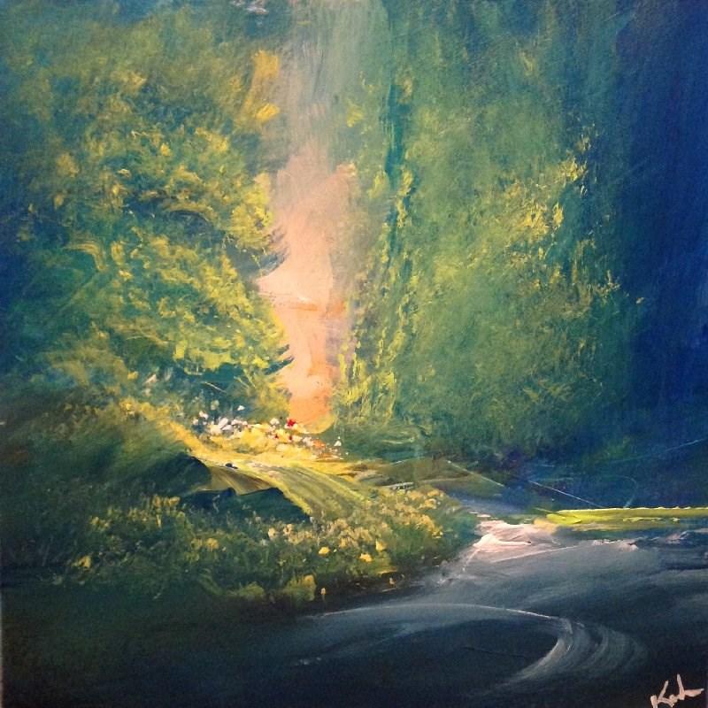 """Below the Trees"" original fine art by David Kuhn"