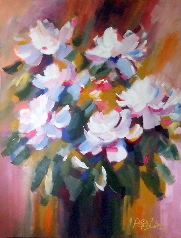 Big Bloomers original fine art by Pamela Gatens