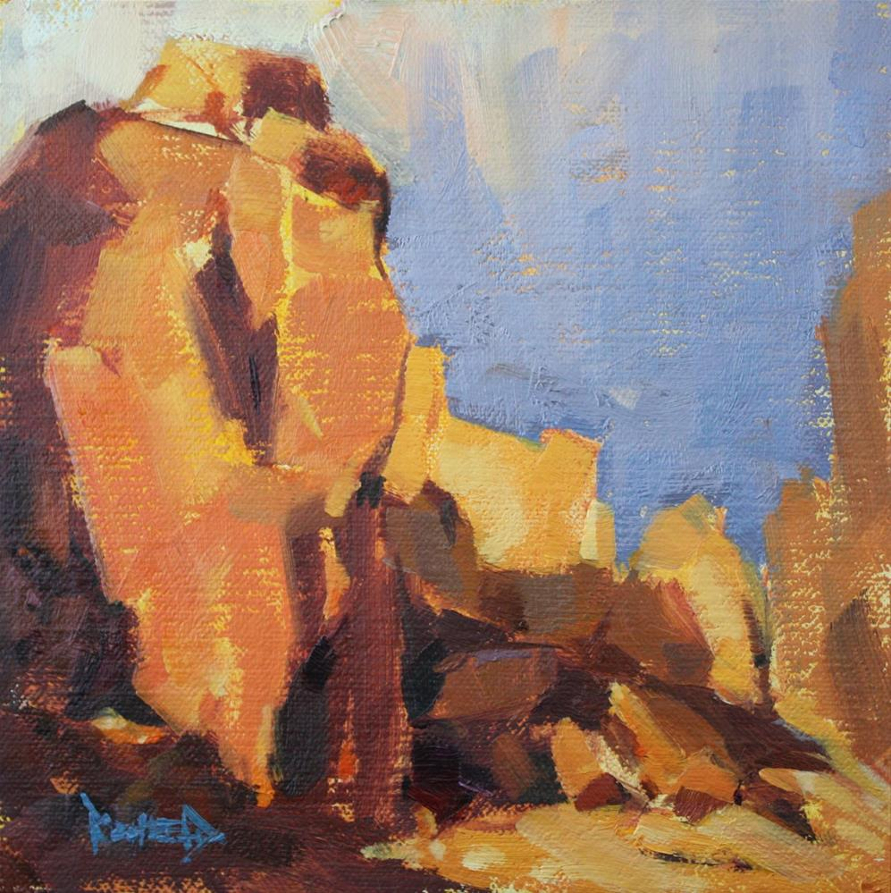 """Smith Rocks, Big Rocks"" original fine art by Cathleen Rehfeld"