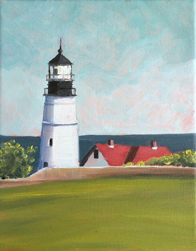 """Portland Head Light"" original fine art by Tricia Granzier"