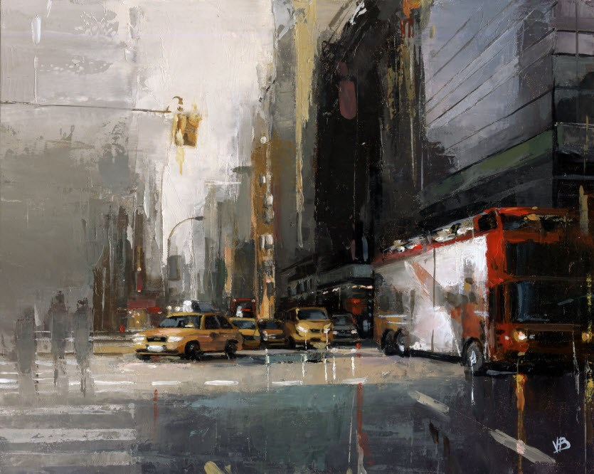 """NYC Sightseeing Tour"" original fine art by Victor Bauer"