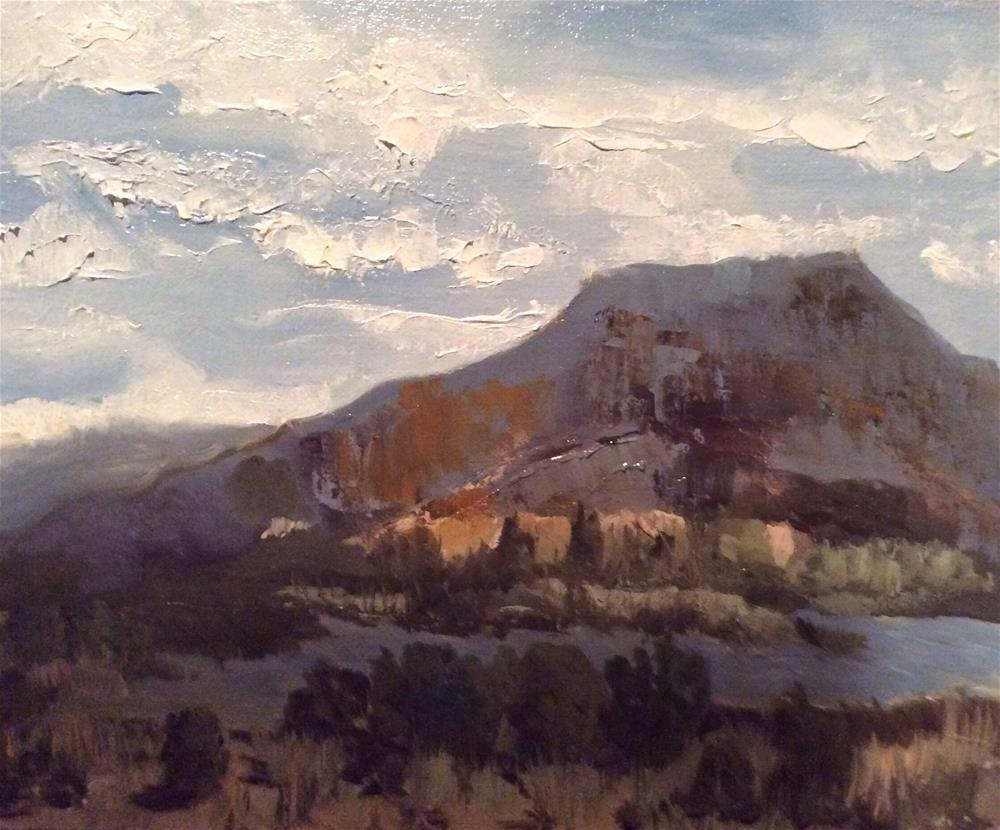 """Penderal Peak, Ghost Ranch, NM"" original fine art by Charlotte Lough"