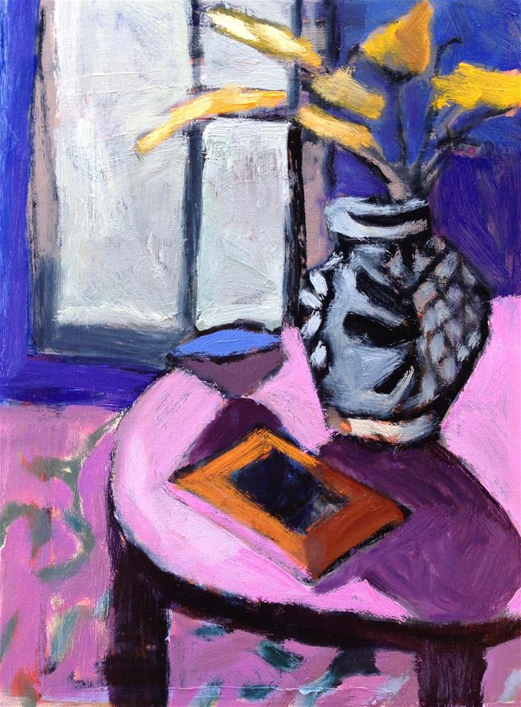 """Diebenkorn Does Pink"" original fine art by Pamela Hoffmeister"