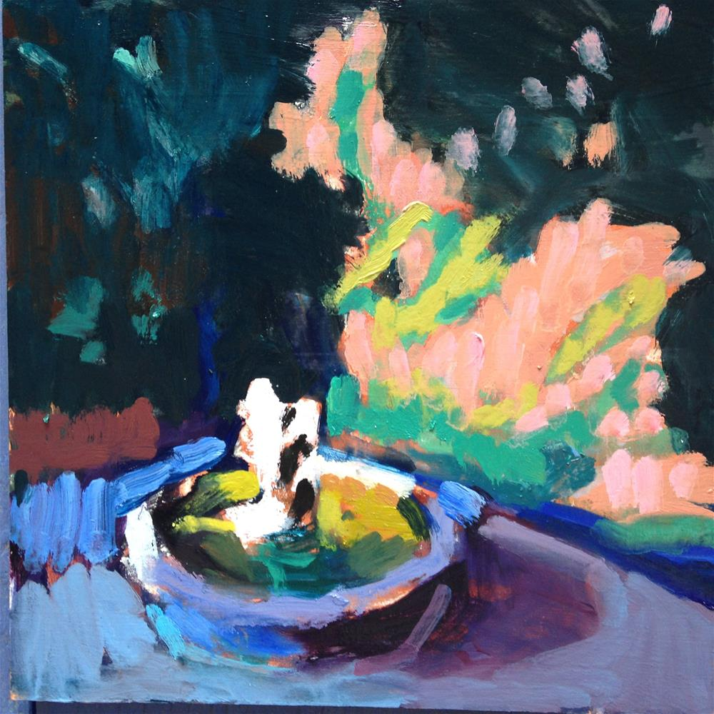 """Pond Scum Green"" original fine art by Pamela Hoffmeister"