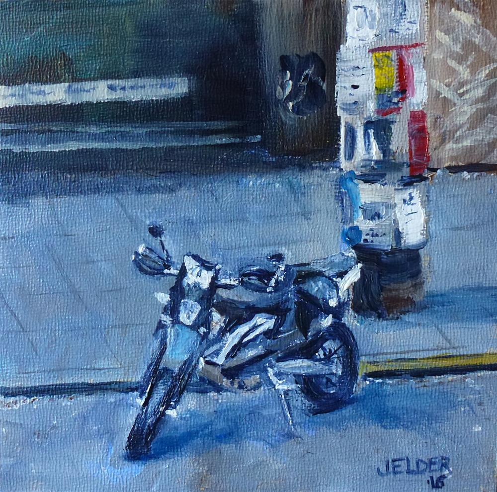 """""""Parking By Rudy's"""" original fine art by Judith Elder"""