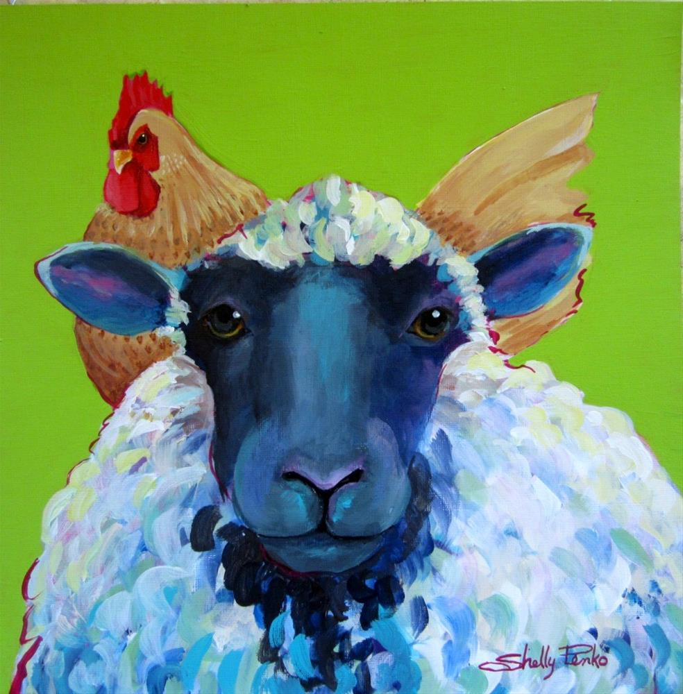 """Sitting On Top of The Wool"" original fine art by Shelly Penko"