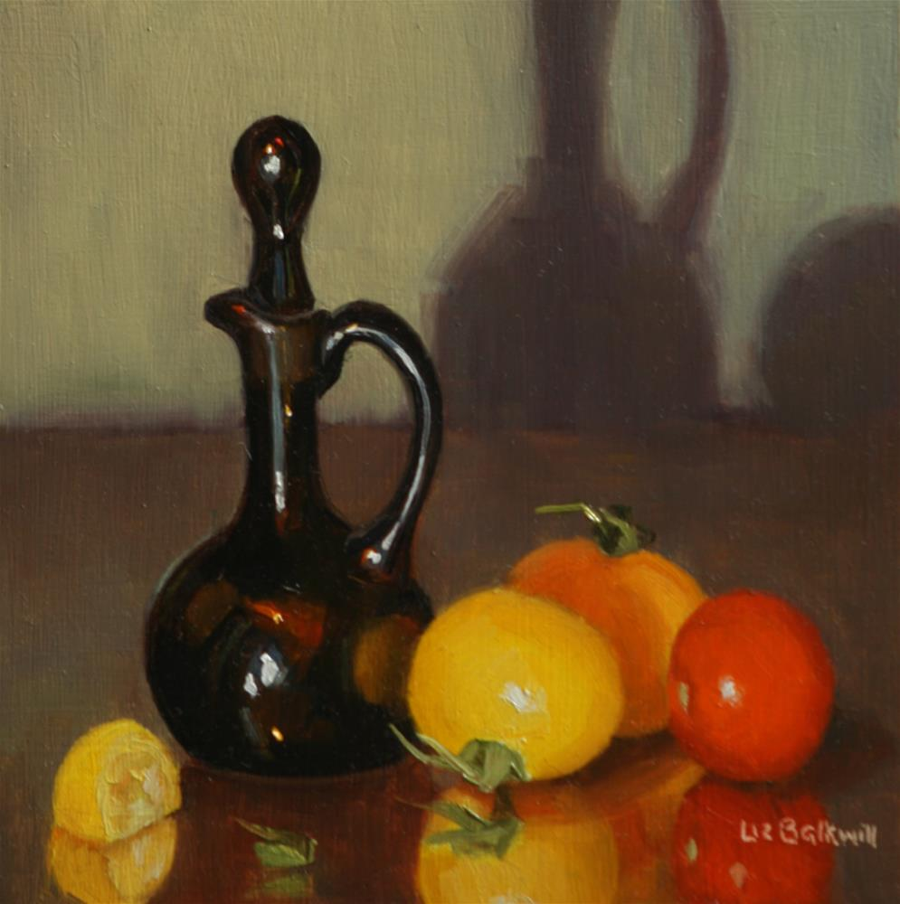 """Balsamic with Tomatoes"" original fine art by Liz Balkwill"