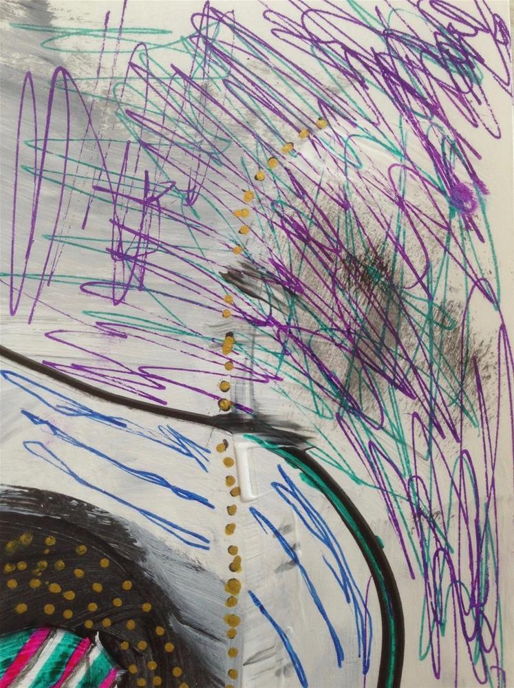 """""""Guest Artist, Caroline"""" original fine art by Dotty Seiter"""