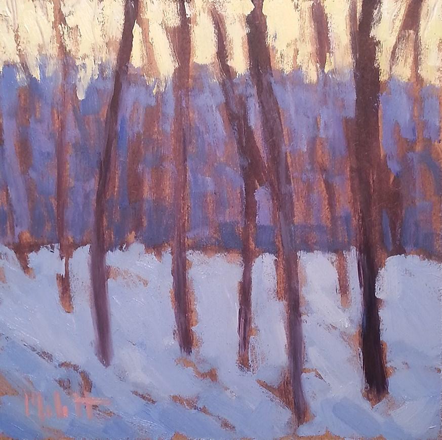 """Winter Hike Contemporary Impressionism Original Oil Painting"" original fine art by Heidi Malott"