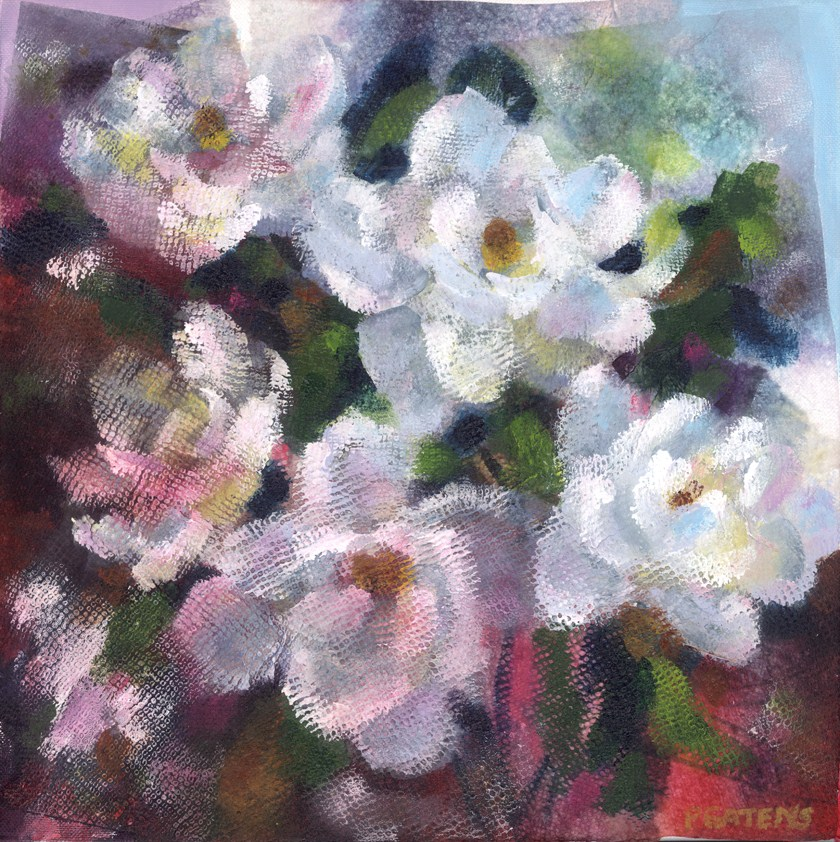 """Mixed Magnolias"" original fine art by Pamela Gatens"