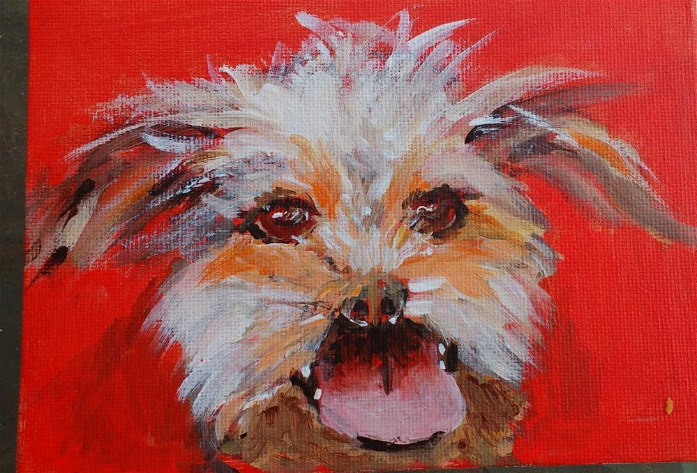 """Walkies!!"" original fine art by Carol Cochran"