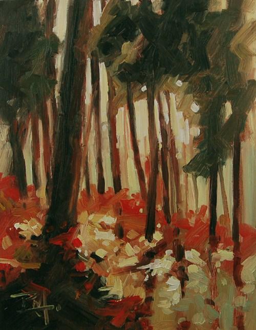 """""""No 469 Forest Floor"""" original fine art by Robin J Mitchell"""