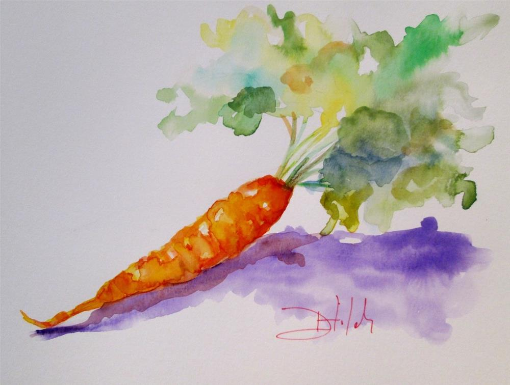 """Carrot"" original fine art by Delilah Smith"