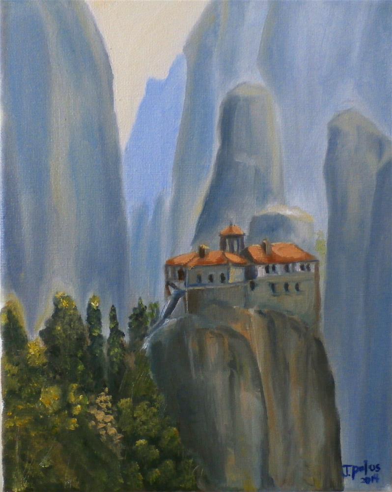 """""""Meteora"""" original fine art by Joann Polos"""