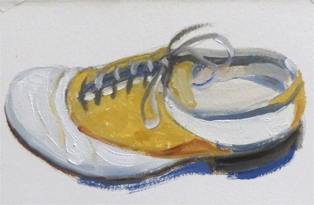 """Golf Shoe"" original fine art by Judy Elias"