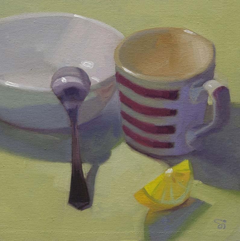 """Breakfast"" original fine art by Istvan Schaller"