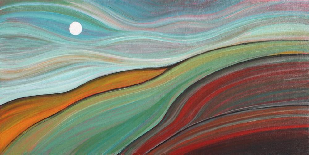 """Crimson Hill"" original fine art by Sage Mountain"
