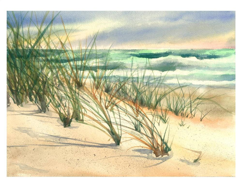 """Dune Study in OBX"" original fine art by Suzanne Woodward"
