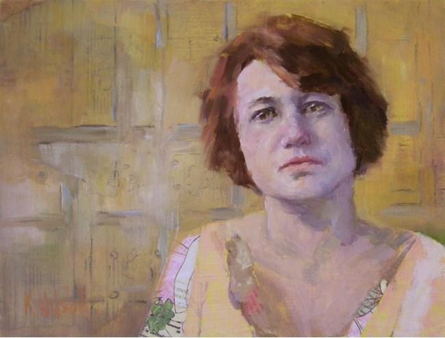 """""""Short Hair"""" original fine art by Katie Wilson"""