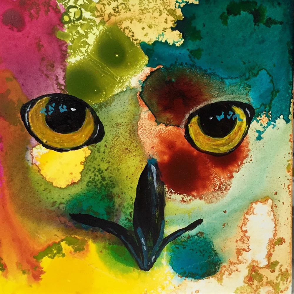 """#47 It's All in the Eyes"" original fine art by Silke Powers"