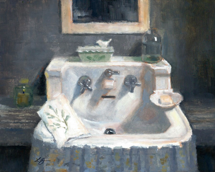 """Sink in the Cottage"" original fine art by Linda Jacobus"