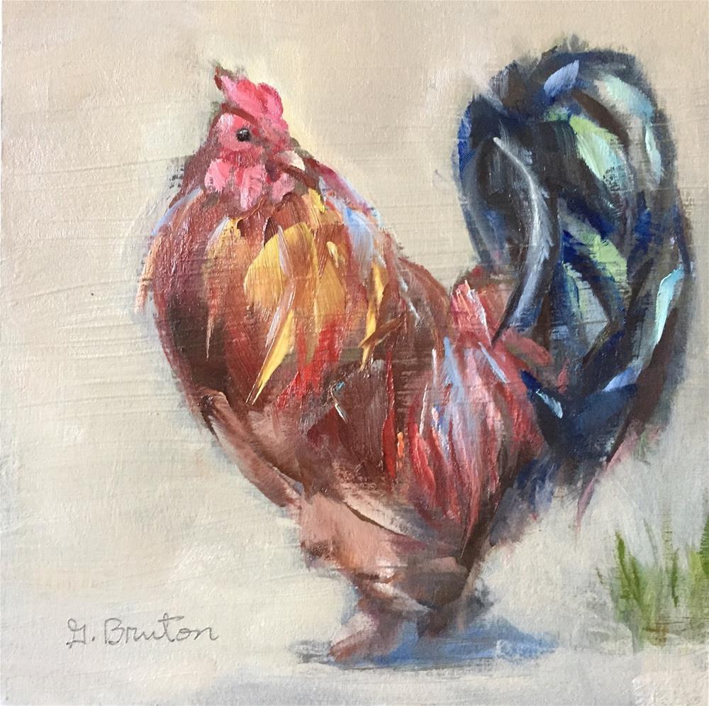 """Fancy Feathers"" original fine art by Gary Bruton"