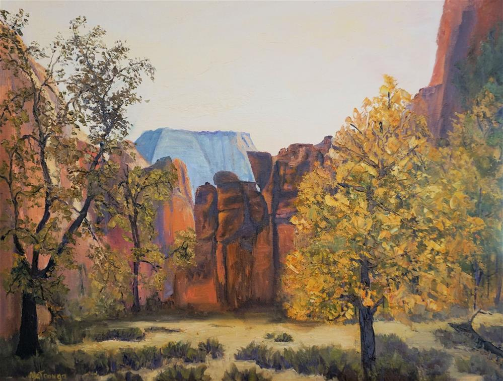 """Zion, River Walk Return"" original fine art by Patricia Matranga"