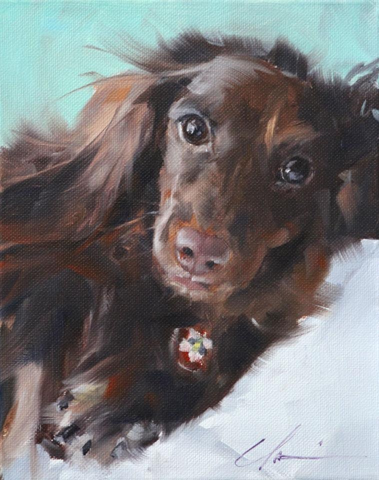 """Bella"" original fine art by Clair Hartmann"
