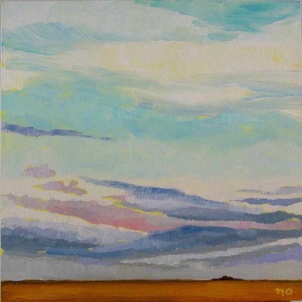 """Big Sky, Flat Prairie"" original fine art by Nicki Ault"
