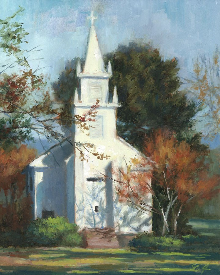 """Little Church in Idaho"" original fine art by Linda Jacobus"