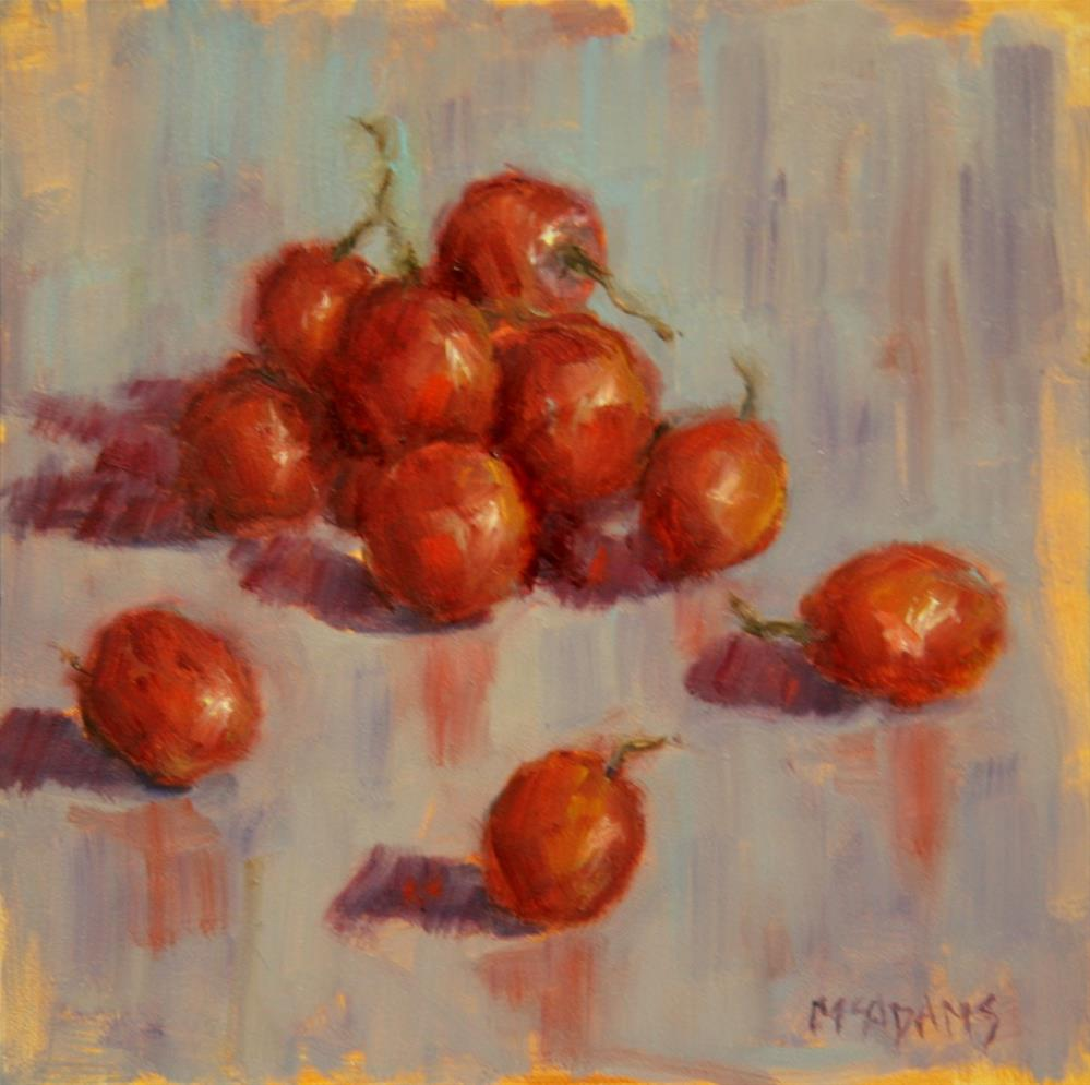 """Red grapes"" original fine art by Phyllis McAdams"