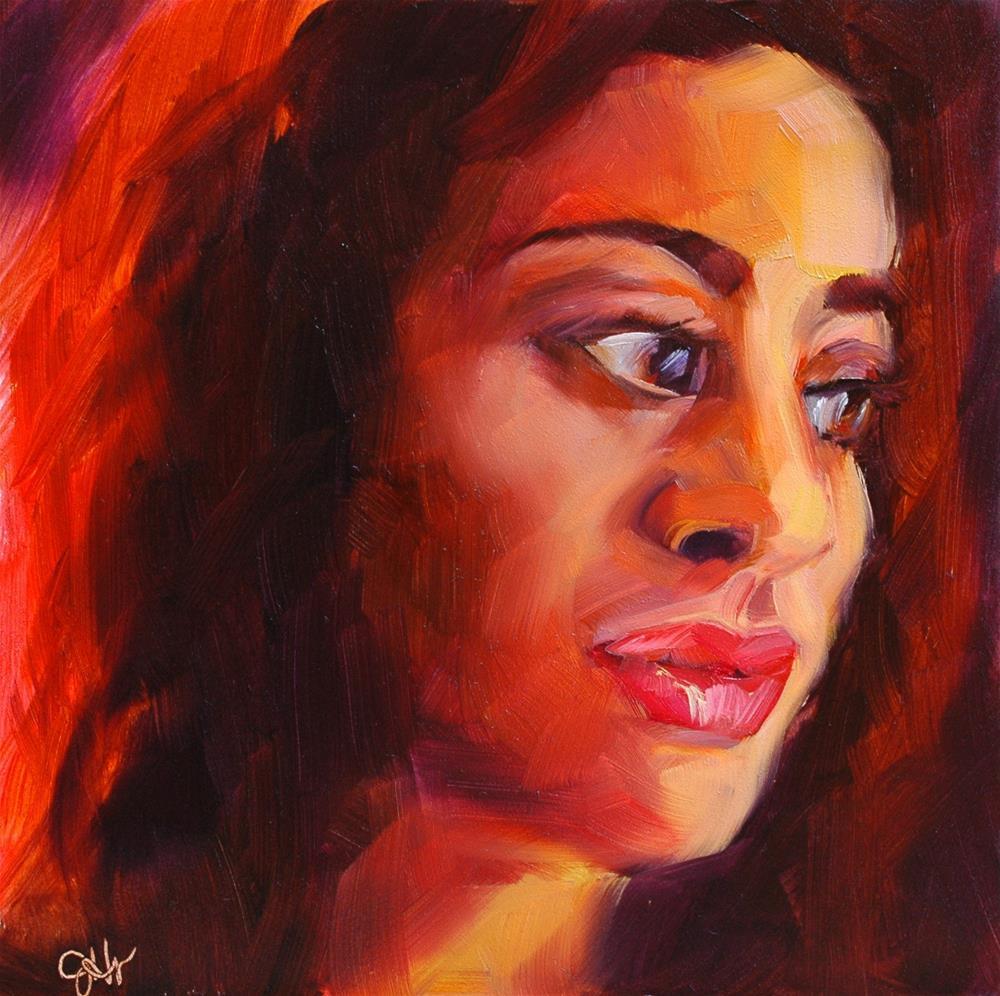 """Glisten"" original fine art by Janette Harter"