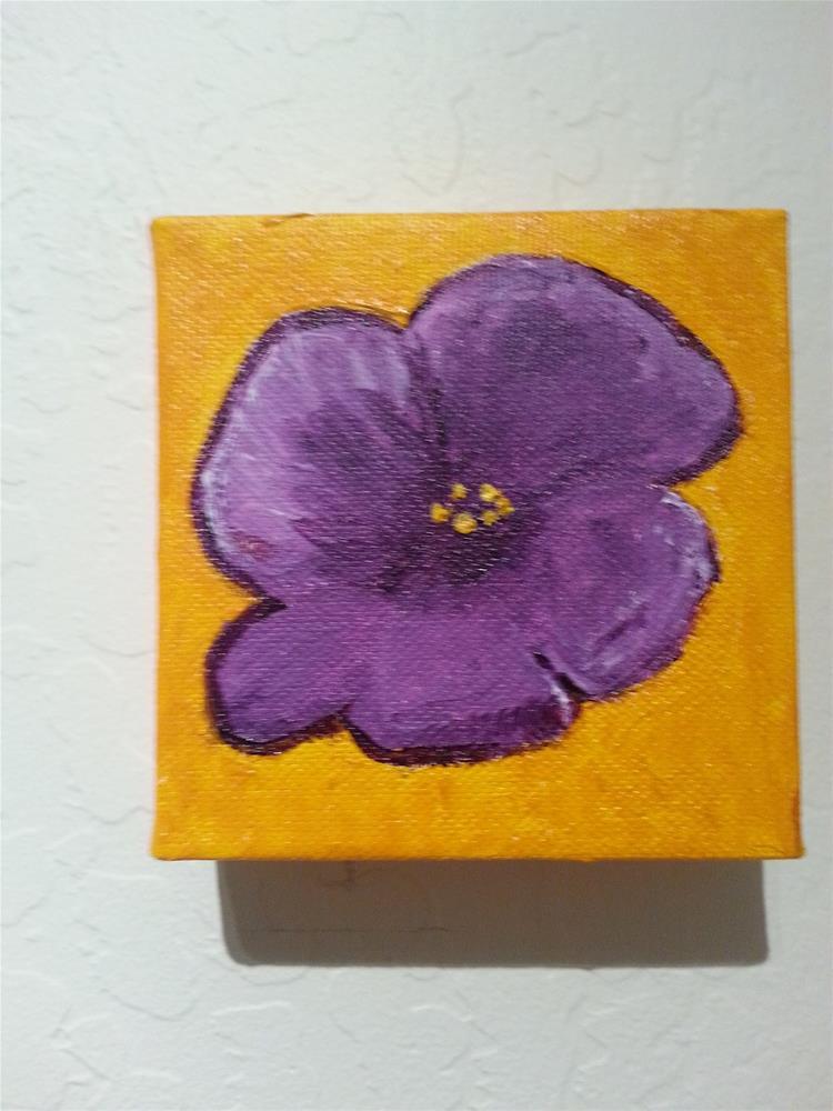 """""""Purple Flower"""" original fine art by Jo Allebach"""